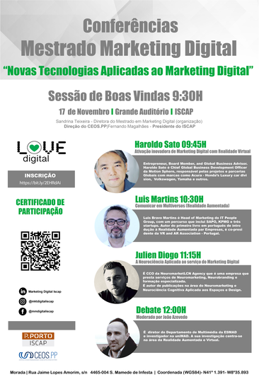 Conferências do Mestrado de Marketing Digital