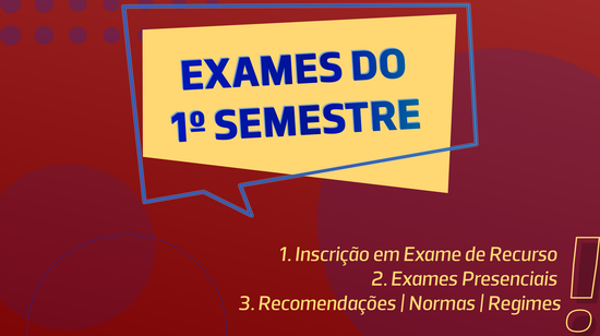 Exames do 1º Semestre 2020/2021