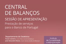 Prestação de Serviços na Central de Balanços do Banco de Portugal